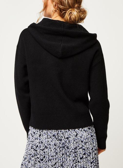 Vêtements Vero Moda Vmloungenew Hood Blouse Noir vue portées chaussures