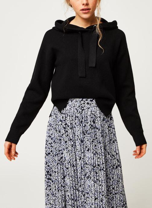 Vêtements Vero Moda Vmloungenew Hood Blouse Noir vue droite
