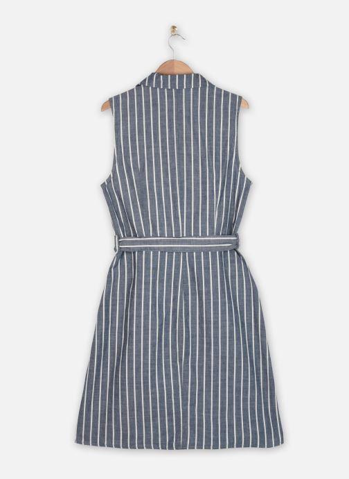 Vêtements Vero Moda Vmsandy Button Short Dress Bleu vue portées chaussures
