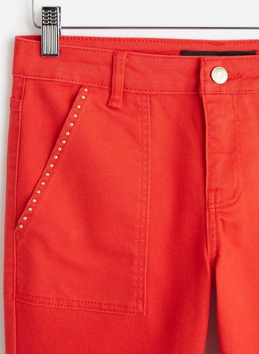 Kleding Vero Moda Vmseven Slim Pocket Pants Rood model
