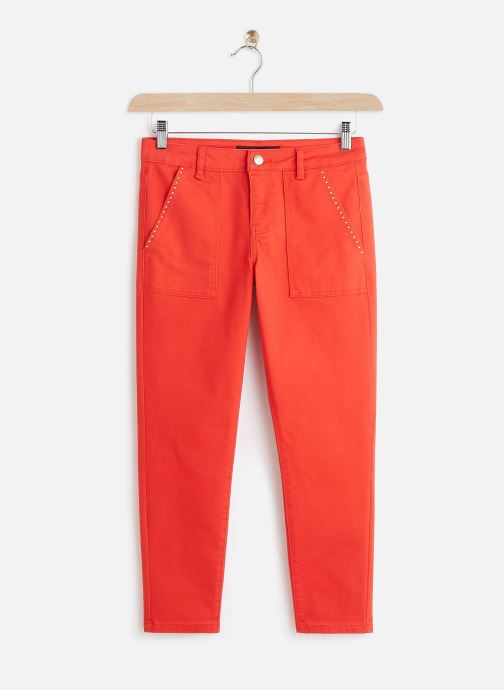 Kleding Vero Moda Vmseven Slim Pocket Pants Rood detail