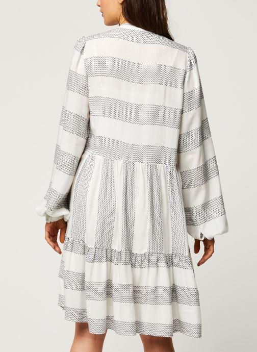 Vêtements Y.A.S YASLAMALI SHORT DRESSES Blanc vue portées chaussures