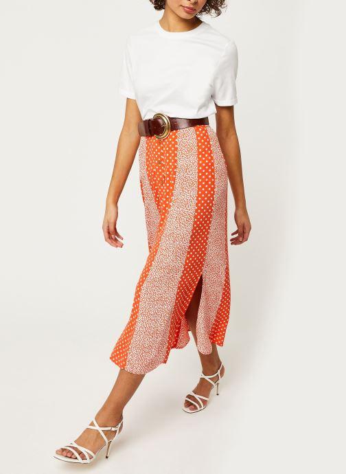 Vêtements Y.A.S YASTIARA LONG SKIRTS Orange vue bas / vue portée sac
