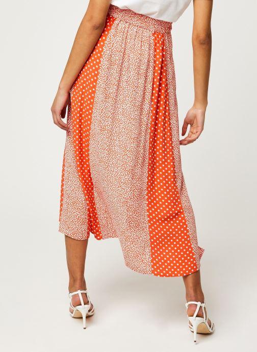 Vêtements Y.A.S YASTIARA LONG SKIRTS Orange vue portées chaussures