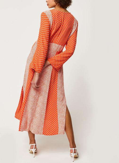 Vêtements Y.A.S YASTIARA SHORT DRESSES Orange vue portées chaussures