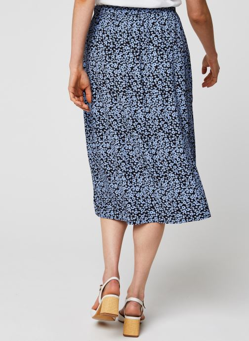 Vêtements MOSS COPENHAGEN Jupe Celina Bleu vue portées chaussures