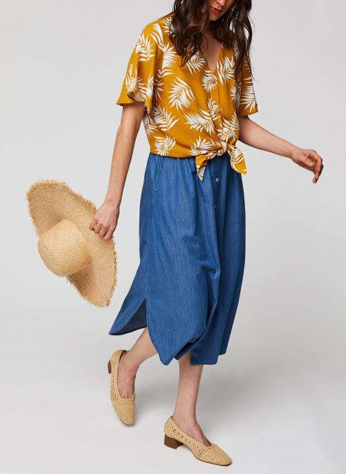 Vêtements MOSS COPENHAGEN Jupe Lyanna Bleu vue bas / vue portée sac