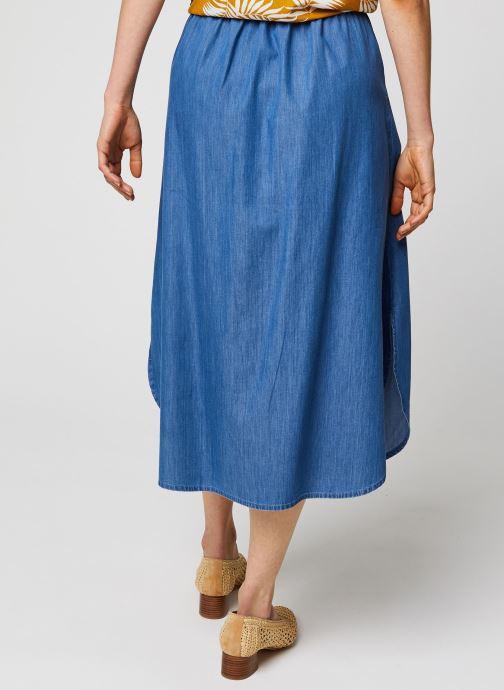Vêtements MOSS COPENHAGEN Jupe Lyanna Bleu vue portées chaussures
