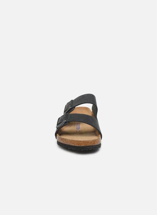 Sandalen Birkenstock Arizona Cuir Soft Footbed M Zwart model