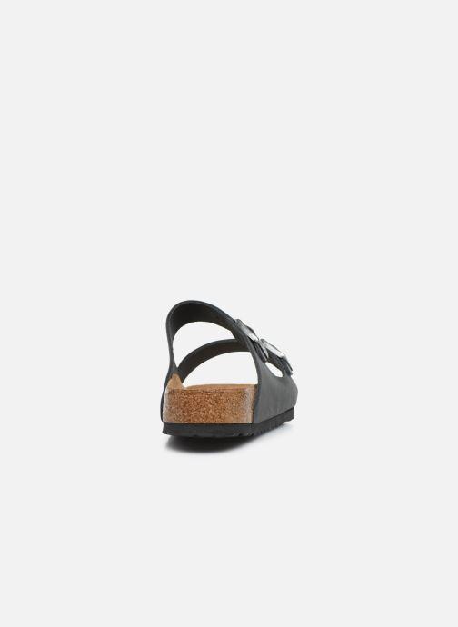 Sandales et nu-pieds Birkenstock Arizona Cuir Soft Footbed M Noir vue droite