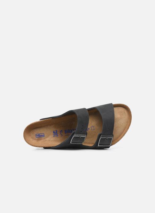 Sandalen Birkenstock Arizona Cuir Soft Footbed M Zwart links