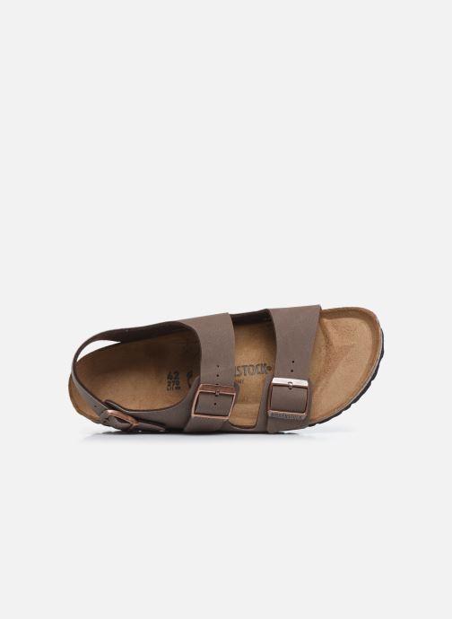 Sandales et nu-pieds Birkenstock Milano Marron vue gauche