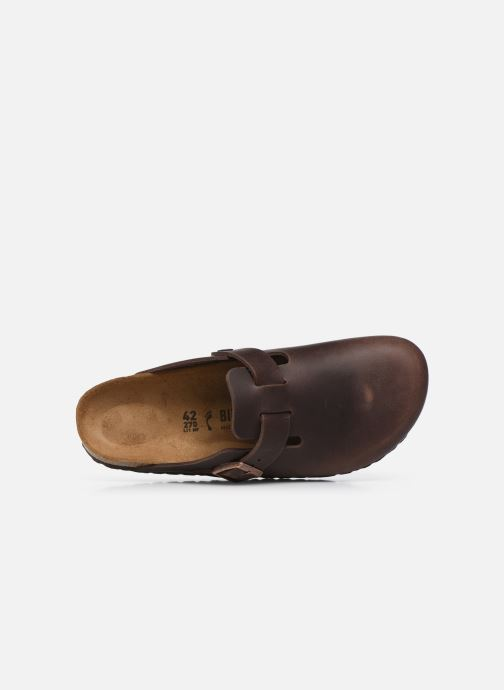 Sandales et nu-pieds Birkenstock Boston Cuir M Marron vue gauche