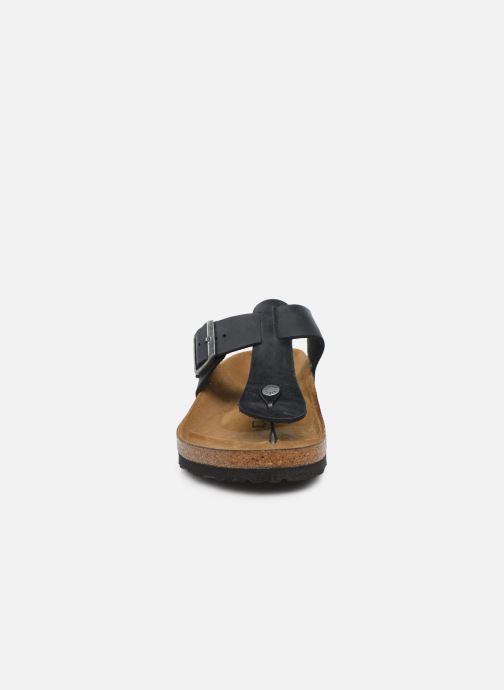 Zehensandalen Birkenstock Medina Cuir M schwarz schuhe getragen
