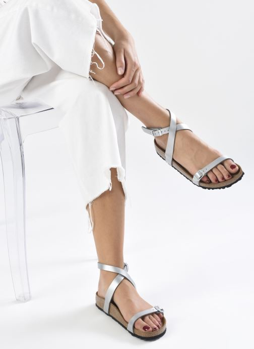 Sandali e scarpe aperte Birkenstock Daloa Flor W Argento immagine dal basso