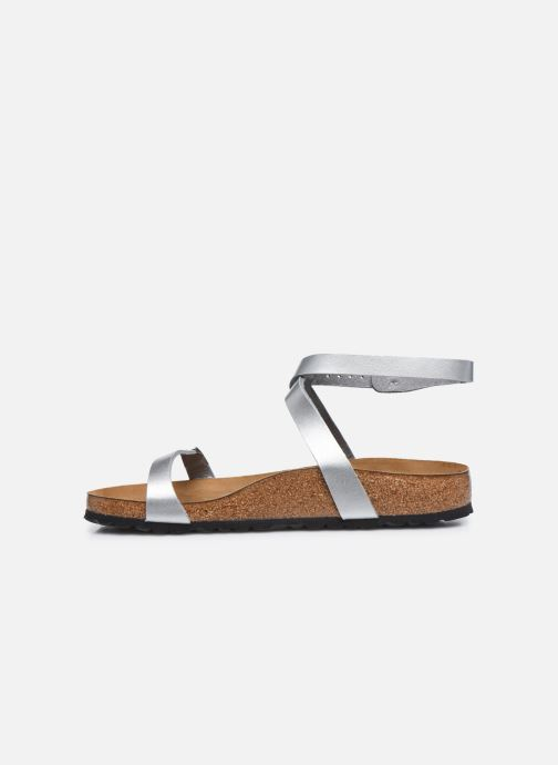 Sandali e scarpe aperte Birkenstock Daloa Flor W Argento immagine frontale