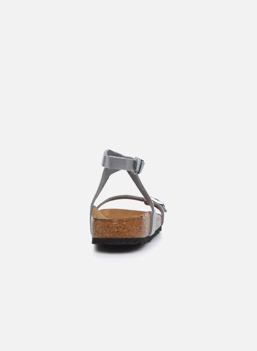 Sandali e scarpe aperte Birkenstock Daloa Flor W Argento immagine destra