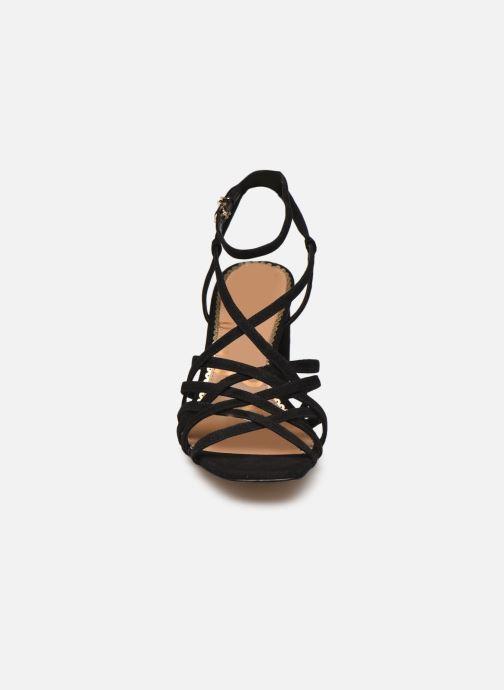 Sandales et nu-pieds Sam Edelman DAFFODIL KID SUEDE LTHR Noir vue portées chaussures