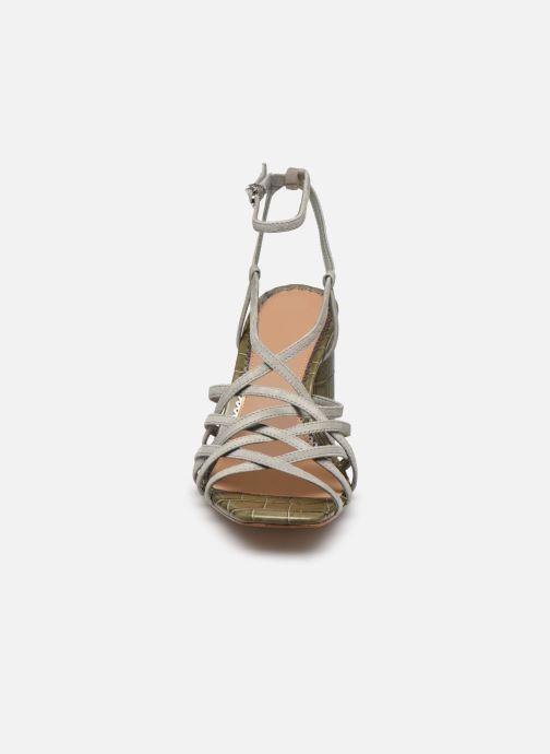 Sandali e scarpe aperte Sam Edelman DAFFODIL KID SUEDE LTHR Verde modello indossato