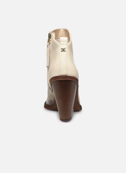 Bottines et boots Sam Edelman ILAH CALF/SNAKE PRINT LTH Blanc vue droite