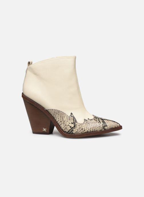 Bottines et boots Sam Edelman ILAH CALF/SNAKE PRINT LTH Blanc vue derrière