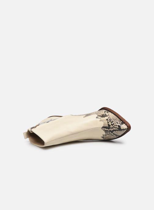 Bottines et boots Sam Edelman ILAH CALF/SNAKE PRINT LTH Blanc vue gauche