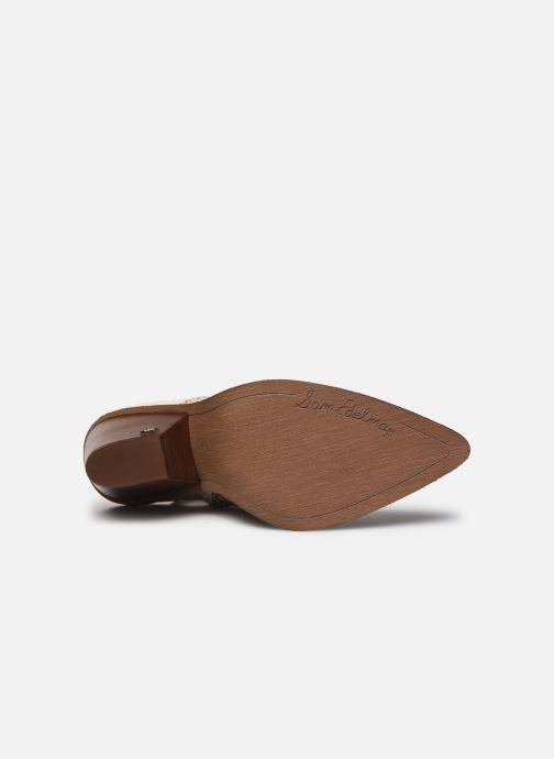 Bottines et boots Sam Edelman ILAH CALF/SNAKE PRINT LTH Blanc vue haut