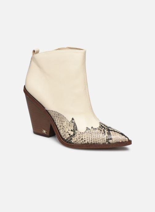 Bottines et boots Sam Edelman ILAH CALF/SNAKE PRINT LTH Blanc vue détail/paire
