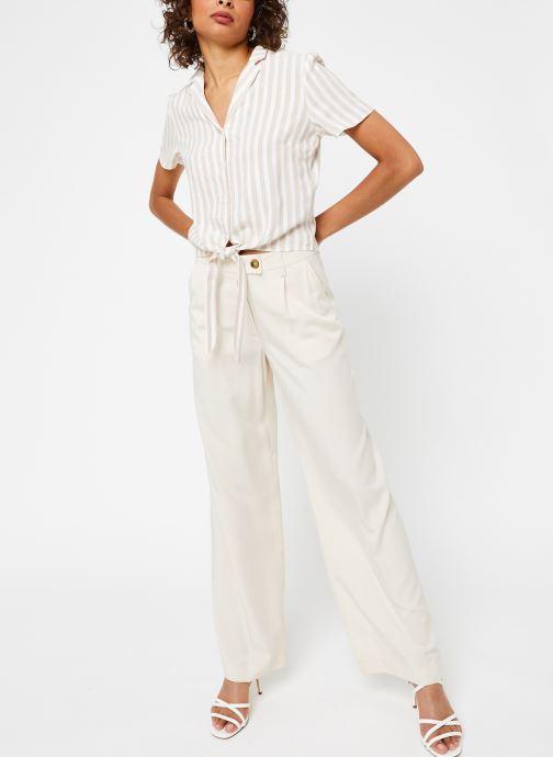 Vêtements OBJECT Objavery Wide Pant Blanc vue bas / vue portée sac