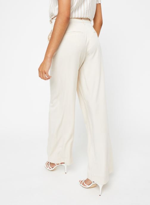 Vêtements OBJECT Objavery Wide Pant Blanc vue portées chaussures