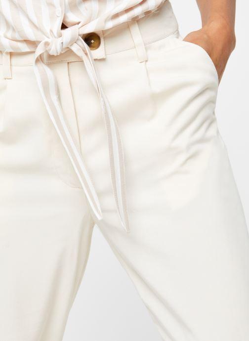 Vêtements OBJECT Objavery Wide Pant Blanc vue face