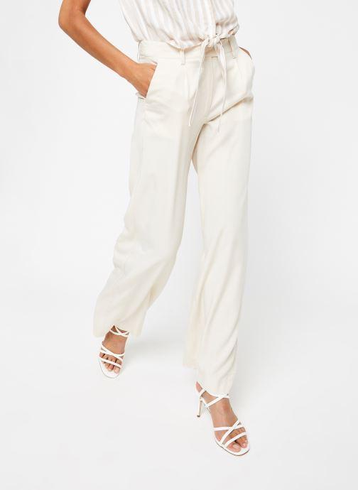 Vêtements OBJECT Objavery Wide Pant Blanc vue détail/paire