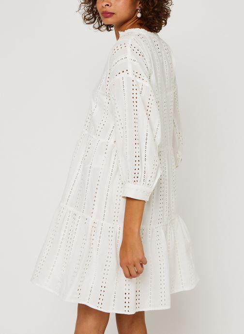 Vêtements OBJECT Objerin Dress Blanc vue portées chaussures