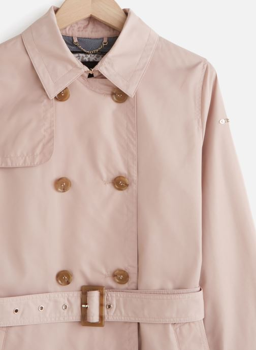 Vêtements Geox Airell Trench Rose vue portées chaussures
