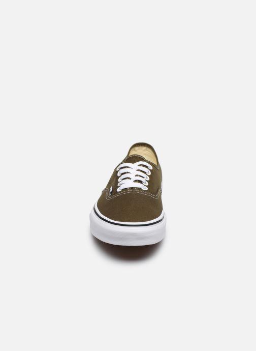 Baskets Vans Authentic V Vert vue portées chaussures
