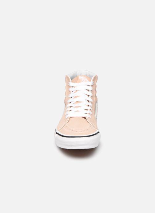 Baskets Vans SK8 Hi W V Beige vue portées chaussures