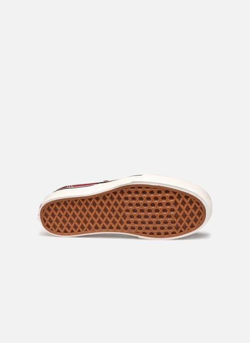 Baskets Vans Authentic Platform V Rouge vue haut