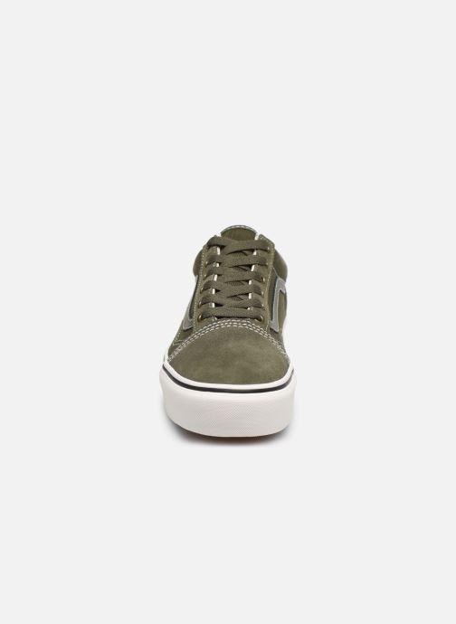 Baskets Vans Old Skool Platform V Vert vue portées chaussures