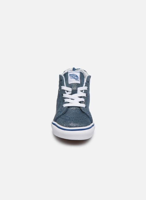 Baskets Vans SK8-Hi Zip BB V Bleu vue portées chaussures