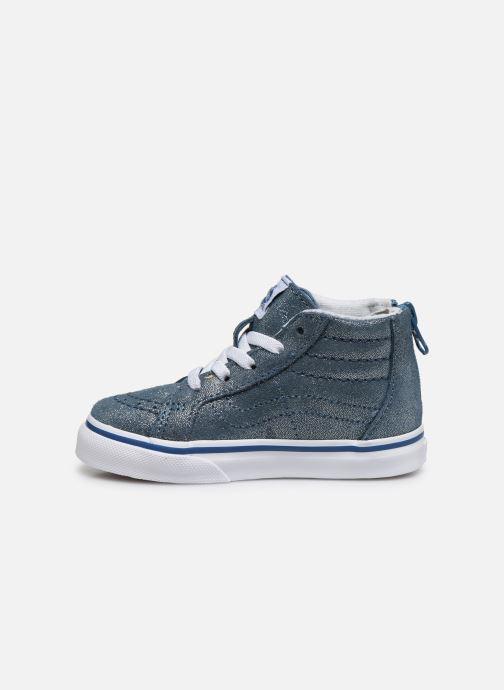 Baskets Vans SK8-Hi Zip BB V Bleu vue face
