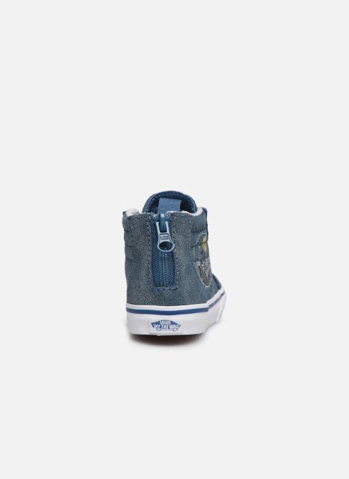 Baskets Vans SK8-Hi Zip BB V Bleu vue droite