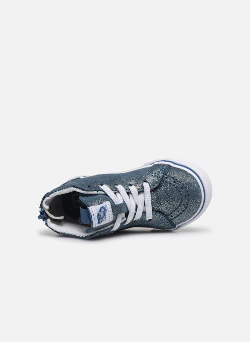 Baskets Vans SK8-Hi Zip BB V Bleu vue gauche