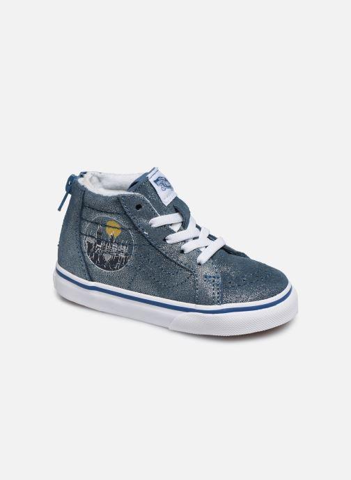 Baskets Vans SK8-Hi Zip BB V Bleu vue détail/paire