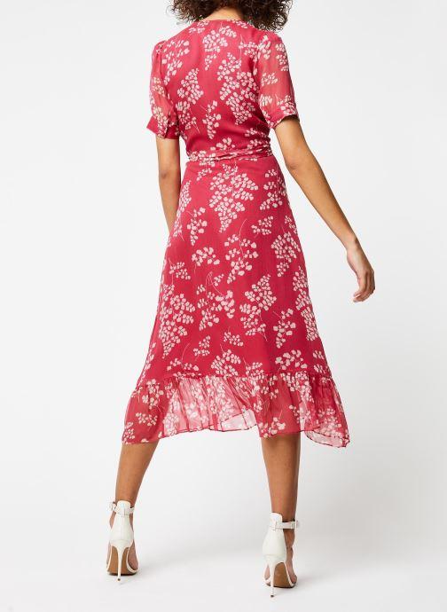 Vêtements Jolie Jolie Petite Mendigote Robe Amelia Jacinthe Rouge vue portées chaussures