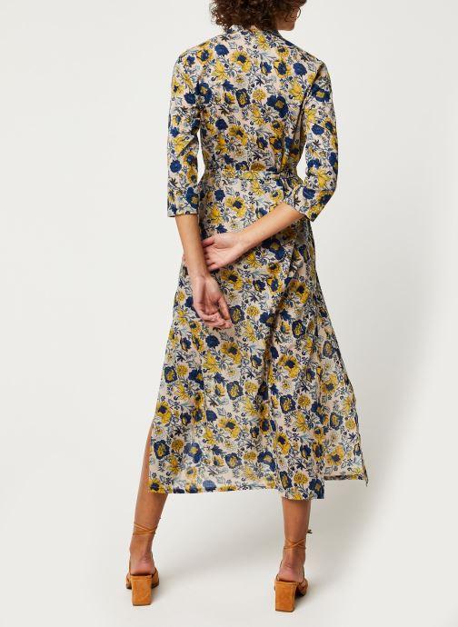Vêtements Jolie Jolie Petite Mendigote Robe Tamara Hortens Bleu vue portées chaussures