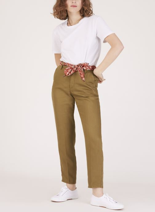 Vêtements Lab Dip Pantalon Thea Tencel Vert vue face