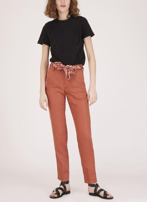 Vêtements Lab Dip Pantalon Thea Tencel Orange vue face
