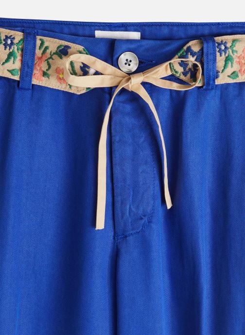 Vêtements Lab Dip Pantalon Simon Tencel Bleu vue portées chaussures