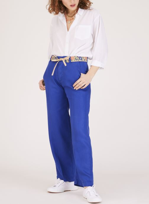 Vêtements Lab Dip Pantalon Simon Tencel Bleu vue face