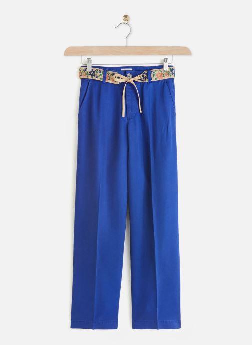 Kleding Lab Dip Pantalon Simon Tencel Blauw detail